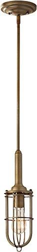 1 Dark Brass Antique (Murray Feiss P1240DAB, Urban Renewal Mini Round Pendant, 1 Light, 100 Watts, Dark Antique Brass)