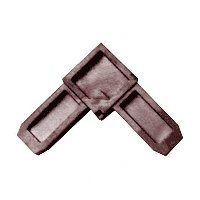 CRL 7/16'' x 3/4'' Bronze Square Cut Screen Frame Corner by C.R. LAURENCE