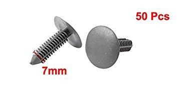 50/pz interni auto pannello clip di fissaggio rivetti in plastica grigio per 7/mm foro