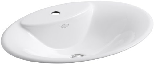 KOHLER K-2831-1-0 Maratea Self-Rimming Bathroom Sink, White by Kohler