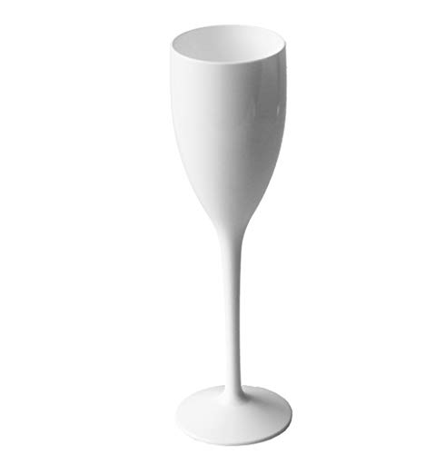 Premium White Unbreakable Champagne Glasses | Perfect for Diner en Blanc | Latest Technology Wonderlite Polycarbonate Plastic | Set of 2]()