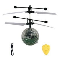 RC Toy RC Flying Ball Drone Helicopter Ball Built-in Shinning LED Lighting for Kids Teenagers Colorful Flyings by KAMUNG