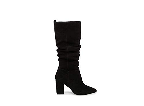 Steve Madden Women's Raddle to The Knee Boot Black Suede 6.5 M US