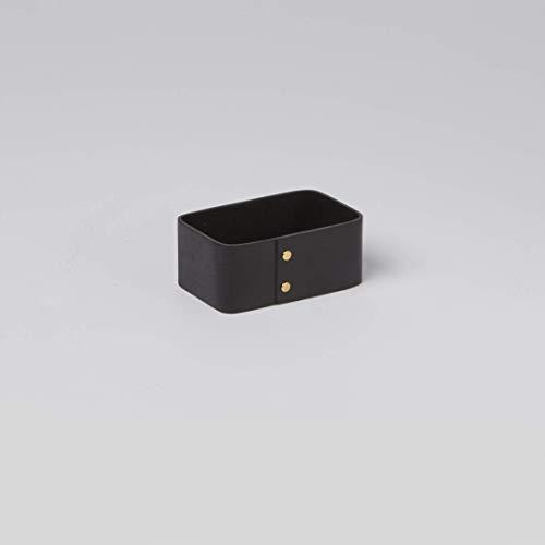 American Metalcraft PWBS4 Poplar Wood Sugar Packet Holder, Black, 4-Inches