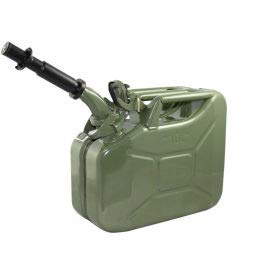 Wavian Jerry Can w/Spout & Spout Adapter, Green, 10 Liter/2.64 Gallon Capacity - 3014(3014)