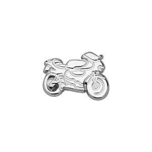 So-Chic-Schmuck-Herren-Ohrstecker-Motorrad-Rennen-Strae-Sterling-Silber-925-Verkauf-pro-Stck