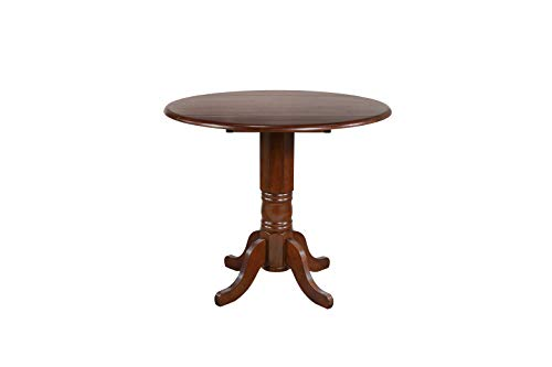 Sunset Trading DLU-ADW4242CB-CT Andrews Dining Table Distressed Chestnut ()