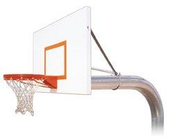 最初チームTyrant Extremeスチールで地面固定高さバスケットボールsystem44 ;スカーレット B01HC0CYBI