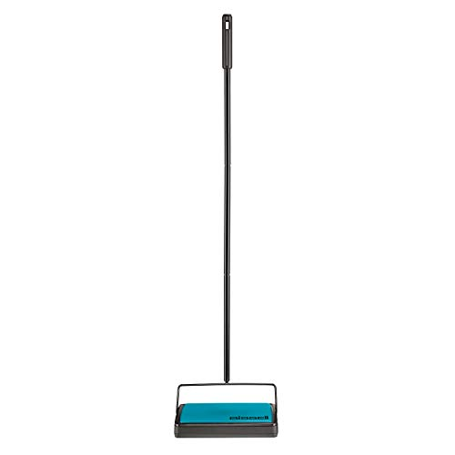 (Bissell Easy Sweep Compact Carpet & Floor Sweeper, 2484A, Teal)
