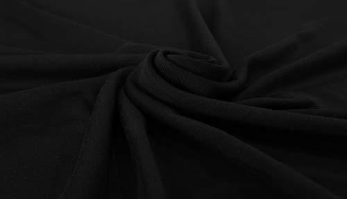 Sarin Mathews Women's Casual Round Neck Loose Fit Short Sleeve T-Shirt Blouse Tops Black S