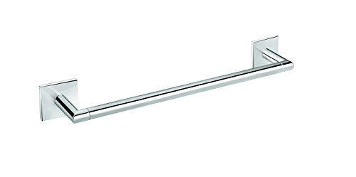 Square Self-Adhesive Towel Bar Rail Holder Hanger Bath Towel Hanging Rack Chrome (18 in.) by Dormic Bath Collection