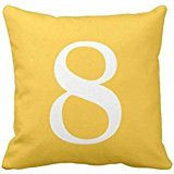 Number 8 throw pillow case 1818