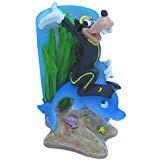 Penn Plax Officially Licensed Classic Disney Aquarium Decorations - Goofy Riding a Dolphin - 3.25