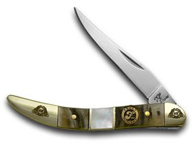 FROST FAMILY 40th Anniversary Ram Horn Mother Of Pearl 1/600 Toothpick Pocket Knife (Mother Of Pearl Toothpick)