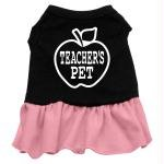 Mirage Pet Products 57-51 SMBKPK 10'' Teachers Pet Screen Print Dress Black with Light Pink, Small