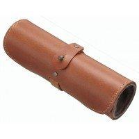 Buttero Leather Hard Eyeglass Case ,Column type, Light Brown by TCcase Co.,Ltd.