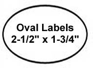 300 Label Outfitters® Oval Gold Metallic Foil Laser Labels, 2-1/2
