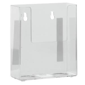 Marketing Holders Acrylic Wall Mount Literature Holder 4 3/8 x 1 5/8 x 5