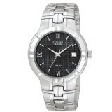 Citizen Men's Stainless Steel Watch with Black Dial