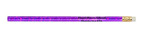 Pencil Guy Promotional Personalized Imprinted Glitz Round Pencils- 1000 per Box -