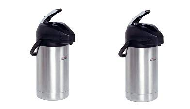 BUNN 32130.0000 3.0-Liter Lever-Action Airpot, Stainless Steel (2, 2-Pack) by BUNN (Image #1)