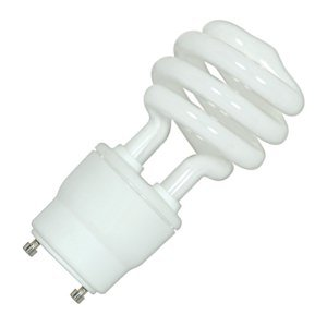 Satco 05302 - 18T2/GU24/2700K/120V/1BL S5302 Twist Style Twist and Lock Base Compact Fluorescent Light Bulb