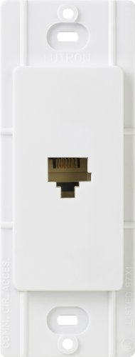 o Telephone Jack, White (Telephone Wall Phone Jack)