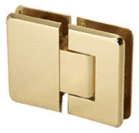 C.R. LAURENCE C0L380BR CRL Brass Cologne 380 Series Adjustable 180 Glass-to-Glass Hinge