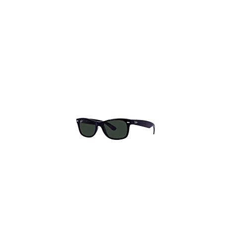 Ray-Ban New Wayfarer Sunglasses (RB2132) Black/Green Plastic,Nylon - Polarized - 55mm (Plastic Sunglasses Wayfarer)