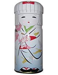 White Hakata Doll - Tea Canister (Japan)