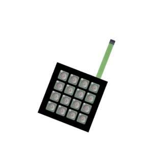 Input Devices 16KEY NONILLUMINATED Membrane SWTCH BLK(FMBN16BD)
