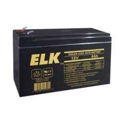 Elk ELK-1280 12V 8Ah Sealed Lead Acid Battery by Elk