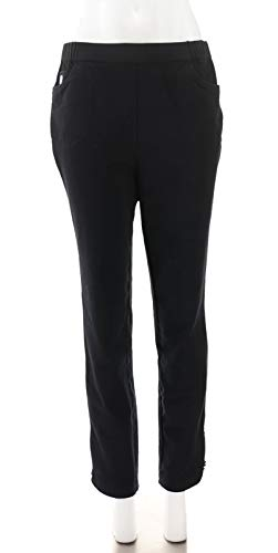 Quacker Factory DreamJeannes Pull-On Ankle Pants Black M New A344053]()