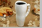 microwavable stoneware - Made in the USA - 20 oz. Ceramic Travel Mug - White