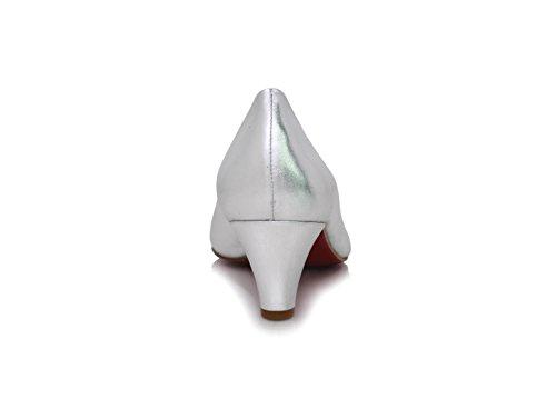 296a10b7beb1 ... Diamond Heels Pumps Breiter Absatz 5cm Silber Metallic Silber ...