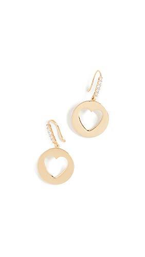 Kate Spade New York Women's Symbols Heart Drop Earrings, Gold, One Size