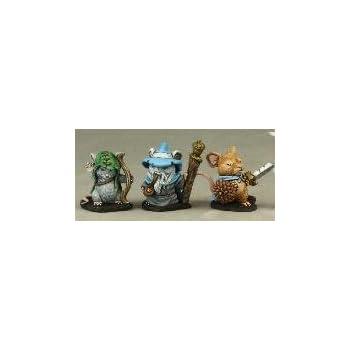 Mouslings (3) Wizard, Archer, Warrior Dark Heaven Legends Series by Reaper