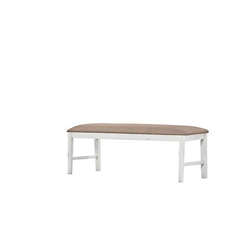 Pemberly Row Imrie Country White Dining Bench