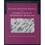 Introduction to Regression Modeling, Ledolter, Johannes and Abraham, Bovas, 0534420761