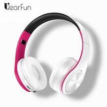 Portable Wireless Headphones Bluetooth Stereo Headset Adjustable Earphones New (Blue)