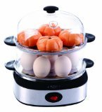 HOMEIMAGE Dual Layer Electric Egg Cooker/Boiler with Stainless Steel Base for up to 14 eggs. HI-702A