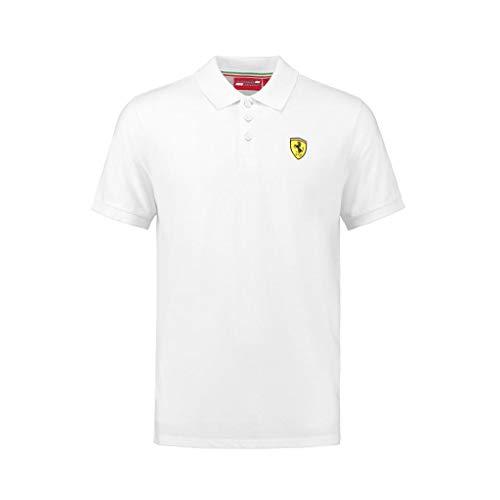 (Ferrari Men's Formula 1 2018 Authentic Men's Classic White Polo (Medium))