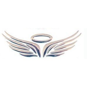 Decal Auto - TOOGOO(R) 3D Chrome Angel Wing Sticker Decal Auto Car Emblem Decal Decoration Color Silver