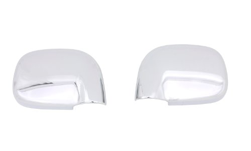Chrome Mirror Covers 2 Piece (Auto Ventshade 687666 Chrome Mirror Cover, 2 Piece)