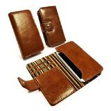 galaxy s2 vintage case - Alston Craig Vintage Genuine Leather Wallet Case Pouch for Samsung Galaxy S2/S3/S4/S5 - Retail Packaging - Brown