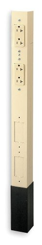 Hubbell - HBLPP10SAI - Three Service Pole Two Orange Isolated Ground 20A 125V Style Line Duplex Receptacles 1 Circuit 10ft. 2in. in. H Ivory