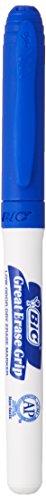 BIC Great Erase Grip Dry Erase Marker, Fine Point, Blue, 12-Count