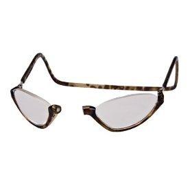 Clic Sonoma Single Vision Half Frame Designer Reading Glasses, Light Tortoise, ()
