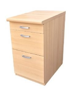 Morgan Beech 3 Drawer Pedestal Office Furniture Uk Only Kitchen Home