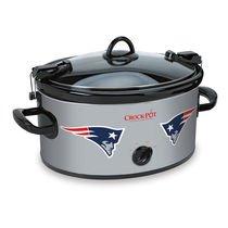 Official NFL Crock-pot Cook & Carry 6 Quart Slow Cooker – (New England Patriots) For Sale
